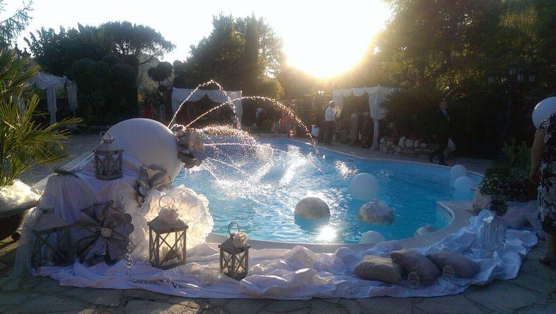 La piscina di Villa Gemma, a pochi km dalla città di Benevento