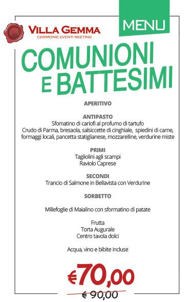 Comunioni e Battesimi